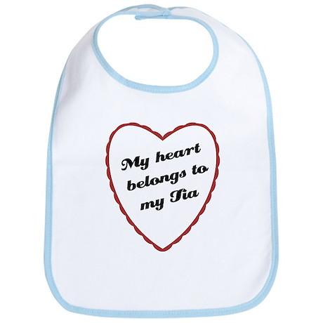 My Heart Belongs to My Tia Baby Bib