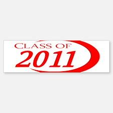 Class of 2011 Red Bumper Bumper Bumper Sticker