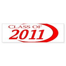 Class of 2011 Red Bumper Bumper Sticker