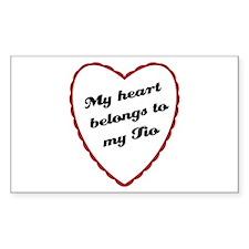 My Heart Belongs to My Tio Rectangle Decal
