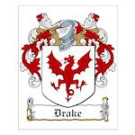 Drake Family Crest Small Poster
