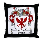 Drake Family Crest Throw Pillow