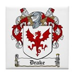 Drake Family Crest Tile Coaster