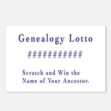 Genealogy Lotto Postcards (Package of 8)