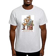 Genealogists Don't Die Ash Grey T-Shirt