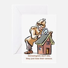 Genealogists Don't Die Greeting Cards (Package of