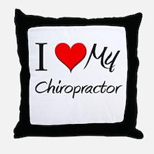 I Heart My Chiropractor Throw Pillow