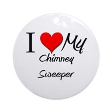 I Heart My Chimney Sweeper Ornament (Round)