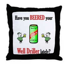 Well Driller Throw Pillow