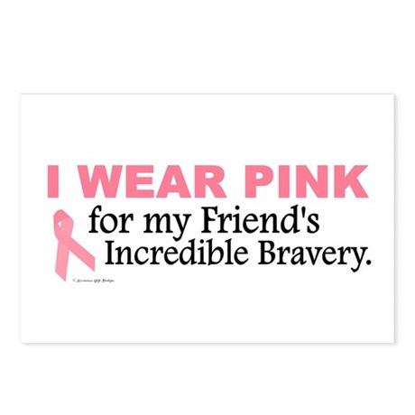 Pink For My Friend's Bravery 1 Postcards (Package