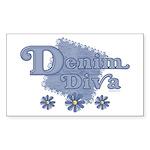 Denim Diva Rectangle Sticker