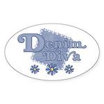 Denim Diva Oval Sticker