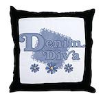 Denim Diva Throw Pillow