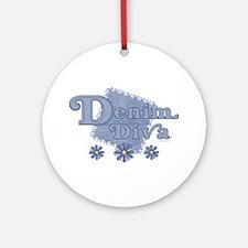 Denim Diva Ornament (Round)