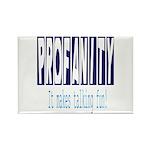 Profanity: It makes talking F Rectangle Magnet (10