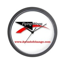 Flying Wings Kites Wall Clock