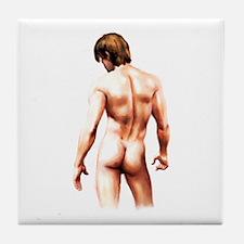 Male Nude Back Tile Coaster