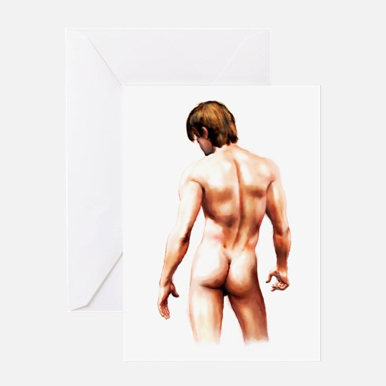 Male Nude Back Greeting Card