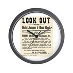 Look Out Dead Beat Wall Clock