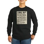 Look Out Dead Beat Long Sleeve Dark T-Shirt