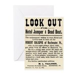 Look Out Dead Beat Greeting Cards (Pk of 10)
