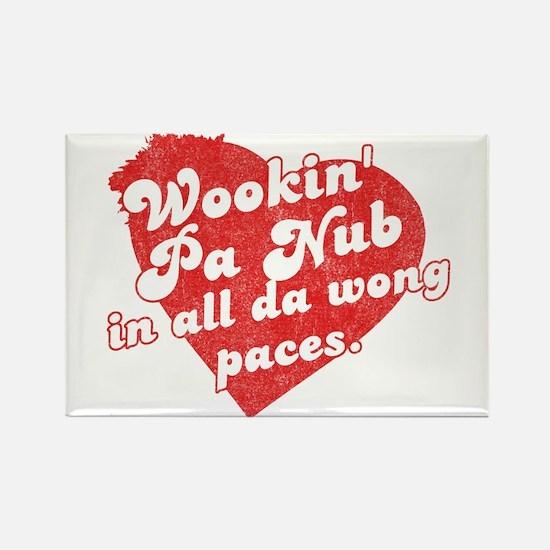 Wookin' Pa Nub Rectangle Magnet