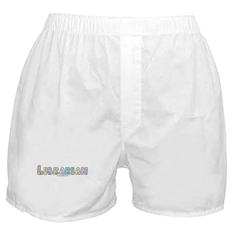 Librarian Patchwork Boxer Shorts