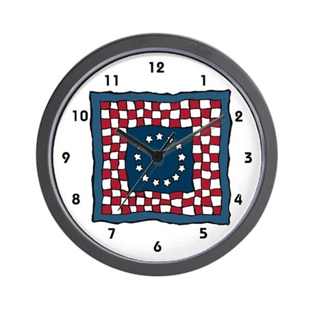Quilter Wall Clock