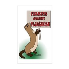 Ferrets Against Plagiarism Rectangle Decal