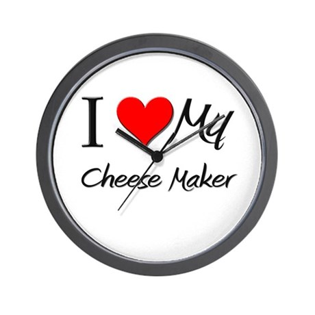 I Heart My Cheese Maker Wall Clock