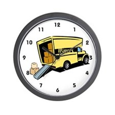 Moving Truck Wall Clock
