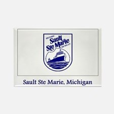 Sault Ste Marie MI Flag Rectangle Magnet