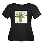 Fun Bug Women's Plus Size Scoop Neck Dark T-Shirt