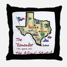 TX-Alamo! Throw Pillow