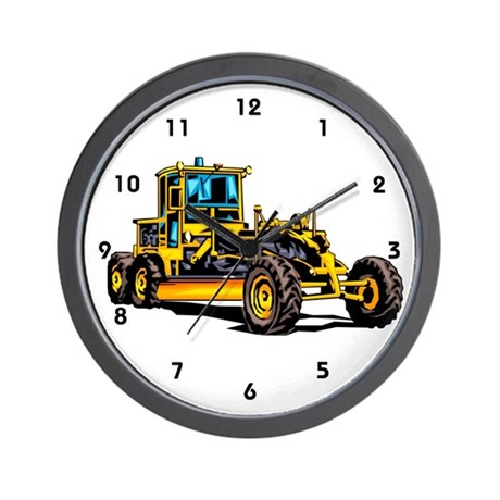 Heavy Equipment Grader Operator Wall Clock