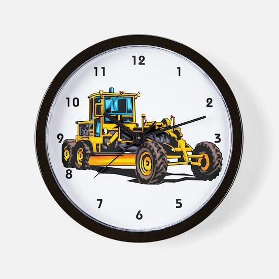 Heavy Equipment Grader Operator Wall Clock