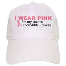 Pink For My Aunt's Bravery 1 Baseball Cap