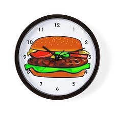 Fast Food Worker Wall Clock