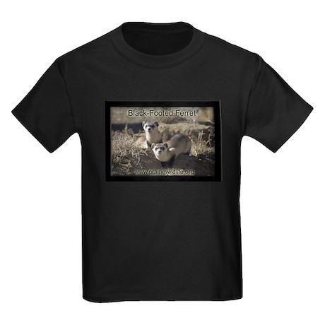 Black-Footed Ferret Kids Dark T-Shirt