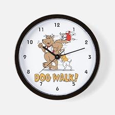 Dog Walker Wall Clock