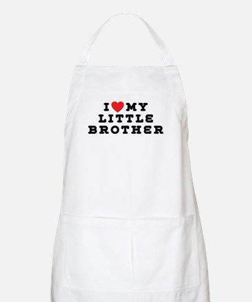 I Love My Little Brother BBQ Apron