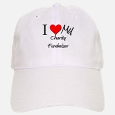 I Heart My Charity Fundraiser Baseball Baseball Cap