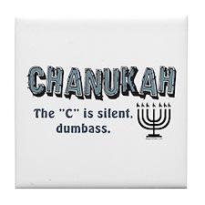 Chanukah The C Is Silent Tile Coaster