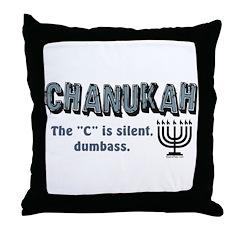 Chanukah The C Is Silent Throw Pillow