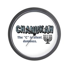 Chanukah The C Is Silent Wall Clock
