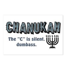 Chanukah The C Is Silent Postcards (Package of 8)
