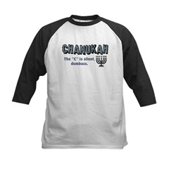 Chanukah The C Is Silent Kids Baseball Jersey