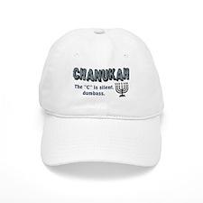 Chanukah The C Is Silent Baseball Baseball Cap