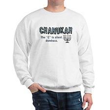 Chanukah The C Is Silent Sweatshirt