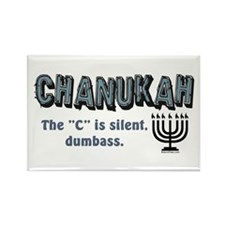 Chanukah The C Is Silent Rectangle Magnet